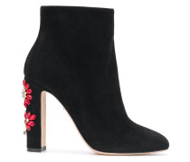embellished crystal flowers boots