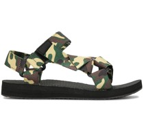 camouflage touch-strap sandals