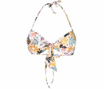 Bikinioberteil mit tropischem Print