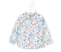 Hemd mit Print - kids - Baumwolle/Elastan - 6 M.