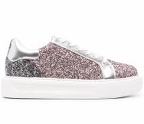 Sneakers mit Glitter-Effekt