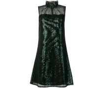 frill neck sequin shift dress