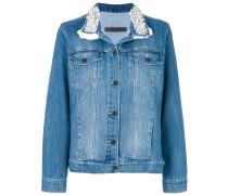 embellished collar denim jacket