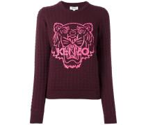 Texturierter 'Tiger' Wollpullover