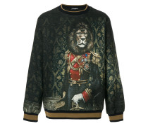 royal lion print sweater