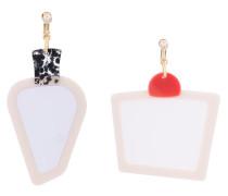 large colour block earrings