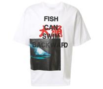 Oversized-T-Shirt mit Hai-Print