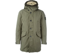 arm patch hooded coat