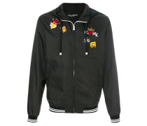 royal patch hooded jacket