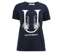 T-Shirt mit Trompeten-Print