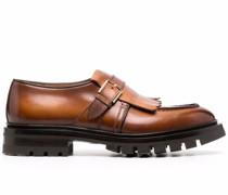 tassel-trim leather loafers