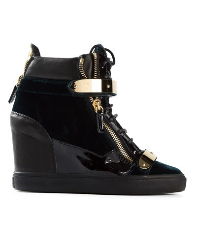 giuseppe zanotti damen wedge sneakers 40 reduziert. Black Bedroom Furniture Sets. Home Design Ideas