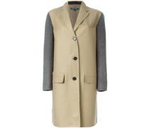 Mantel mit Kontrastärmeln