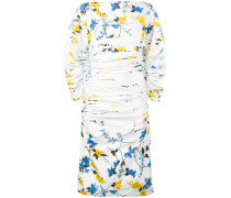 Gerüschtes Kleid mit floralem Print