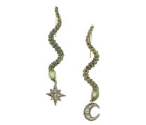 mismatched serpent earrings