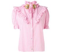 Kariertes Hemd mit Rüschen - women - Baumwolle