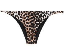 Bikinihöschen mit Leoparden-Print