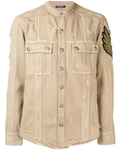 Distressed-Hemd mit Patch