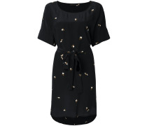 bee print belt dress