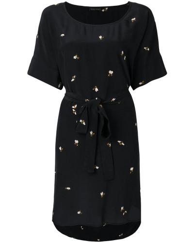 bee print belt dress