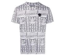 T-Shirt mit Kragen-Print