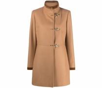 single-breasted toggle-fastening short coat