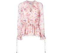 Ausgestellte Bluse mit Blumen-Print