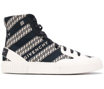 High-Top-Sneakers mit Ketten-Print