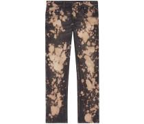 Bleached denim tapered pant - men - Baumwolle