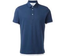 Poloshirt mit Kontrastabschlüssen