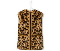 leopard sleeveless gilet