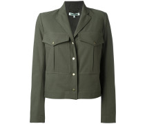 Cropped-Jacke im Military-Stil