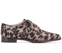 Oxford-Schuhe mit Leoparden-Print