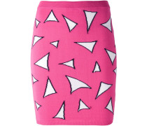triangle knitted fitted skirt