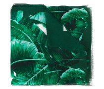 Seidenschal mit Bananenblatt-Print