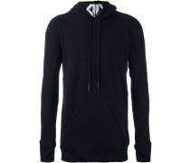 printed neck hoodie
