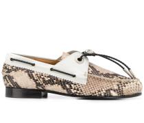 Loafer aus Schlangenleder