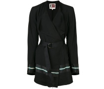 flappy lapels belted jacket