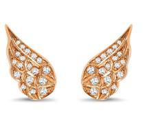 18kt Rotgoldohrringe mit Diamanten