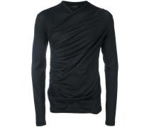 wrap front sweatshirt