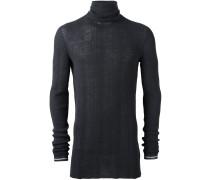 Irregular Ribs Turtle Neck Sweater