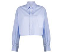 Cropped-Hemd im Oversized-Look