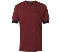 T-Shirt mit Kontrastärmeln