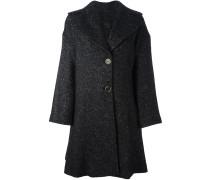 Ausgestellter Mantel mit zwei Knöpfen