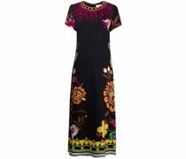Swing-Kleid mit Blumen-Print