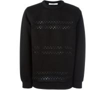 Sweatshirt mit Laser-Cuts