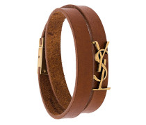 Monogram wrap-around bracelet