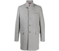 Einreihiger Mantel mit Stehkragen