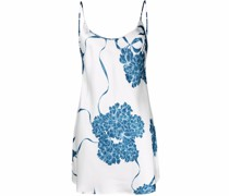 floral silk night dress