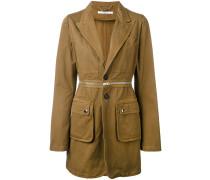longline military blazer - women - Baumwolle